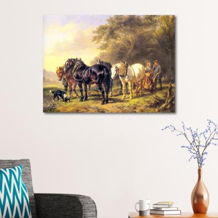 Atlar ve Çiftçi resim2