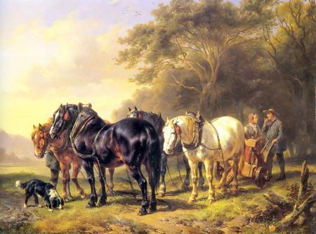Atlar ve Çiftçi resim