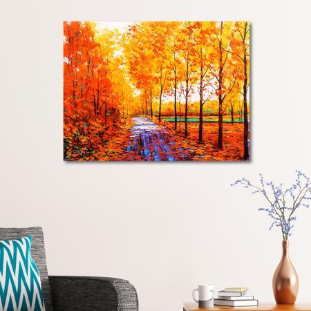 Autumn Red Maple Forest resim2