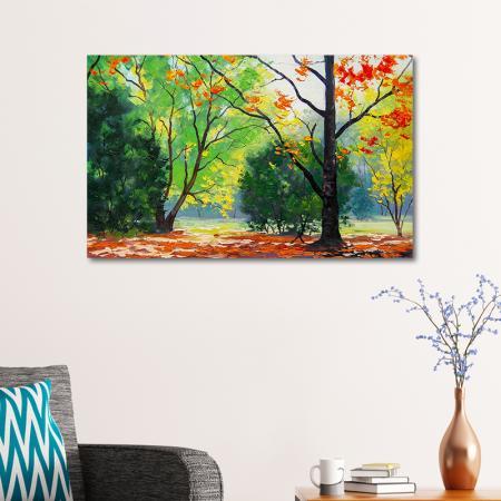 Autumn Trees Drawing resim2