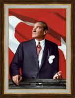 Ayakta Atatürk Portresi - ATA04-Ç