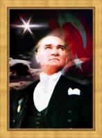 Çerçeveli Atatürk Posteri - ATA18-Ç