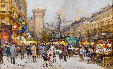Eugène Galien Laloue Paris resim