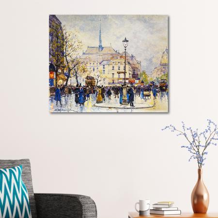 Eugene Galien Laloue Paris Caddeleri resim2