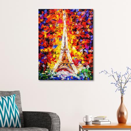 Eyfel Kulesi Yağlı Boya resim2