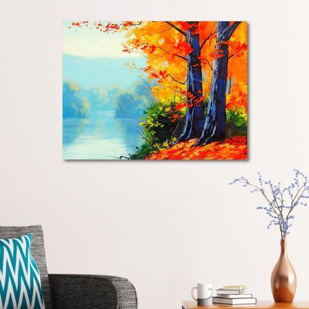 Göl Kenarındaki Ağaçlar resim2