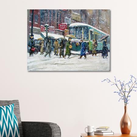 Karlı Şehir Manzarası resim2