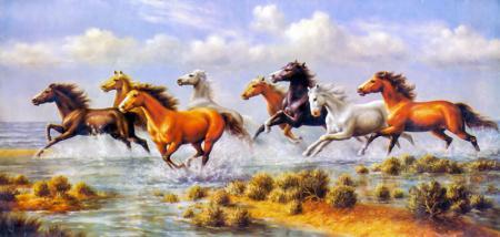 Koşan Atlar resim