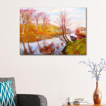 Nehir Kenarında Sonbahar resim2