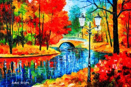 Renkli Doğa Manzarası resim