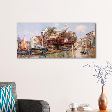 San Trovasi Venedig'de Gondelwerft'ten görünüm. resim2