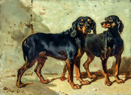 Siyah Köpekler resim