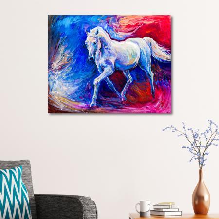 Soyut Beyaz At resim2