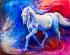 Soyut Beyaz At k0