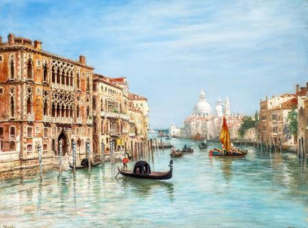 Venedik'te Gondol Turu resim