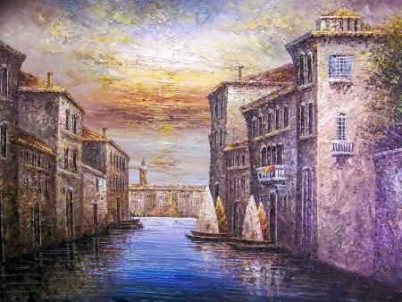 Venedik'te Gün Batımı resim