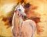 Yağlıboya Beyaz At k0