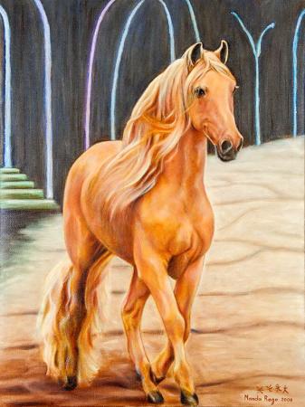 Yağlıboya Kahverengi At resim