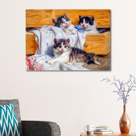 Yağlıboya Kedi resim2