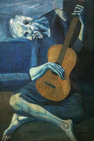 Yaşlı Gitarist - Old Guitarist resim