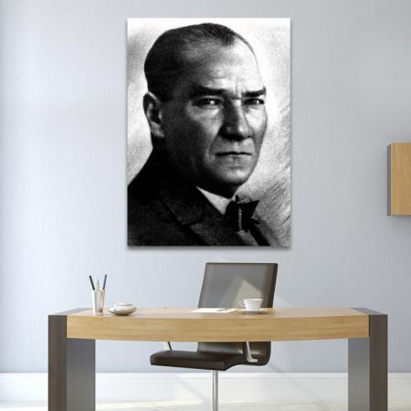Atatürk Portre Siyah Beyaz resim2