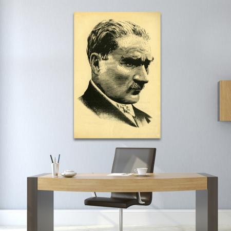 Atatürk Portresi Çizgi Çalışması resim2