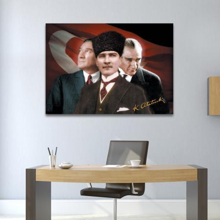 Atatürk Puzzle 3'lü Portre - 500 Parça resim2