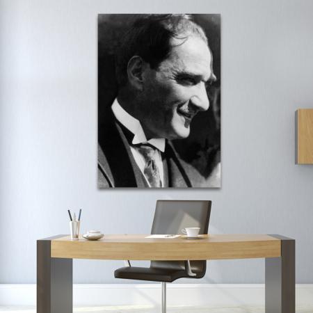 Atatürk Siyah Beyaz Portre resim2