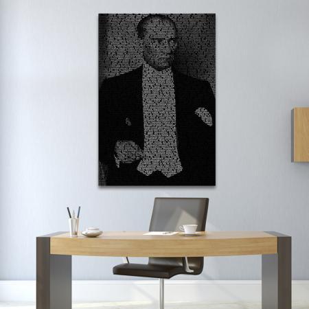 Atatürk'ün Gençliğe Hitabesi Tipografik Tablo resim2