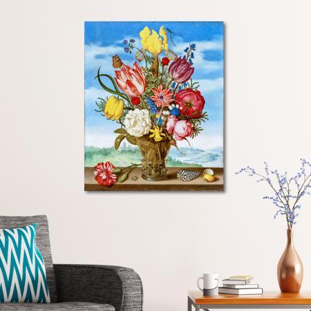 Bahar Çiçekleri ve Kelebek resim2