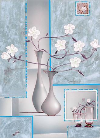 Beyaz Çiçekler resim