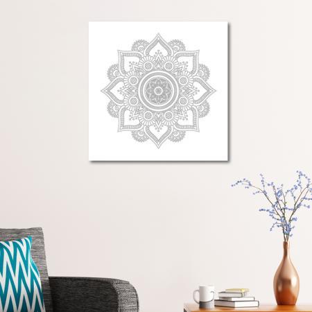 Çiçek Desenli Mandala Tablosu resim2