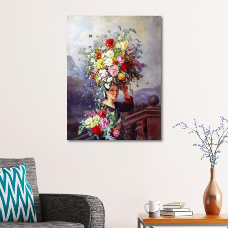 Çiçek Taşıyan Kız resim2
