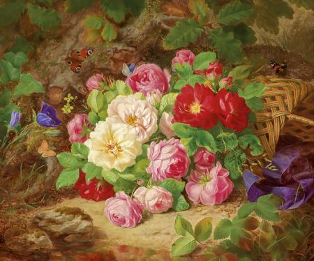 Çiçekler ve Kelebekler resim