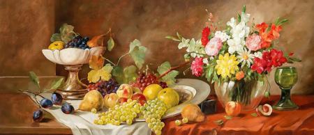 Çiçekler ve Meyveler resim