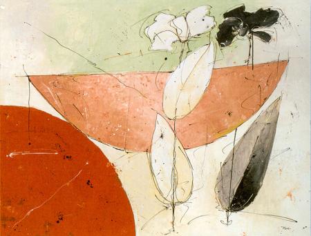 Desenli Çiçek Tablosu 0