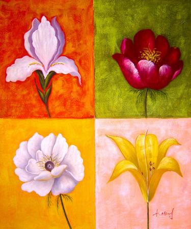 Dört Çiçek resim