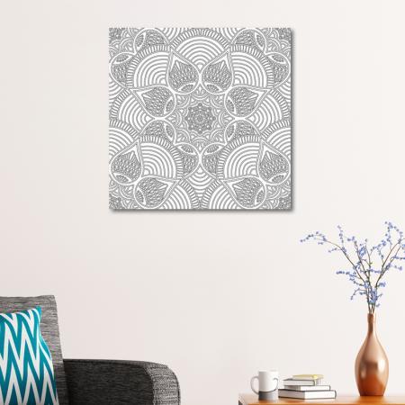 Floral Desenli Mandala Tablosu resim2