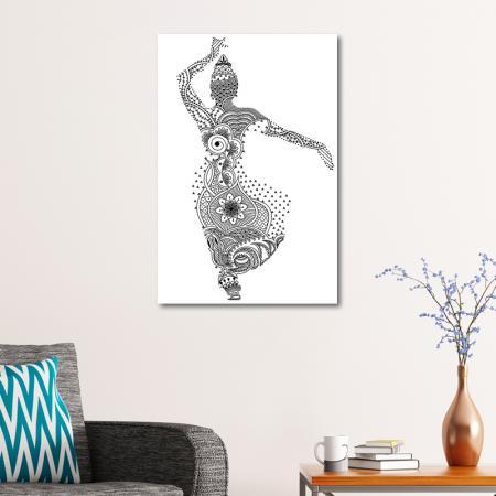 Kadın Desenli Boyanabilir Kanvas Tablo resim2