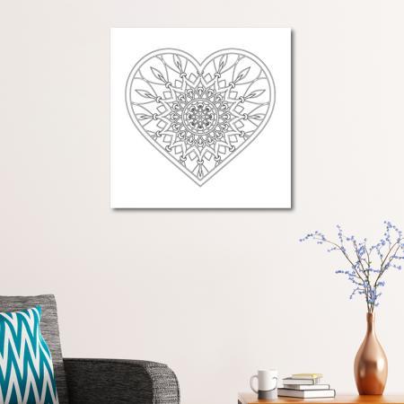Kalp Desenli Boyanabilir Tablo resim2