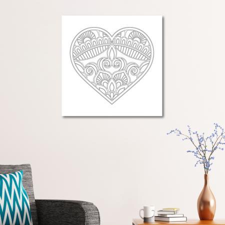Kalp Desenli Mandala Tablosu resim2