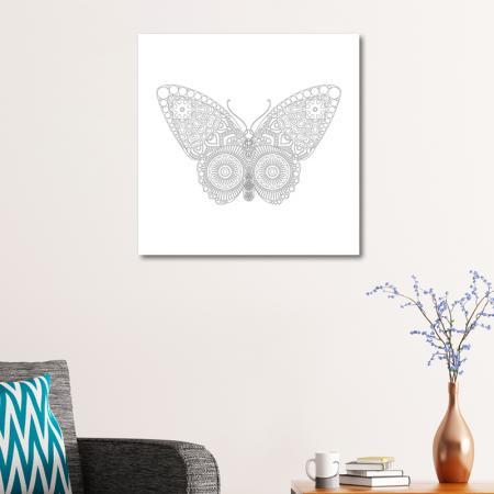 Kelebek Desenli Mandala Tablosu resim2
