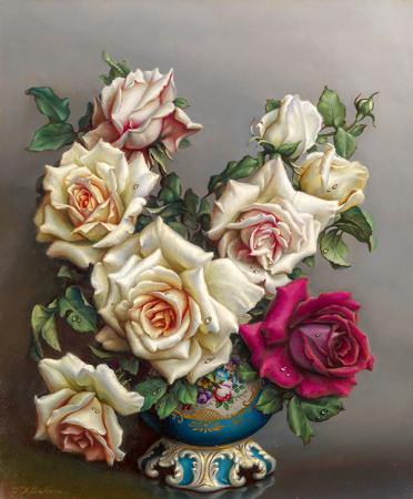 Kırmızı Beyaz Güller resim
