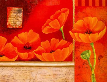 Kırmızı Çiçekler resim