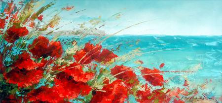 Kırmızı Gelincikler resim