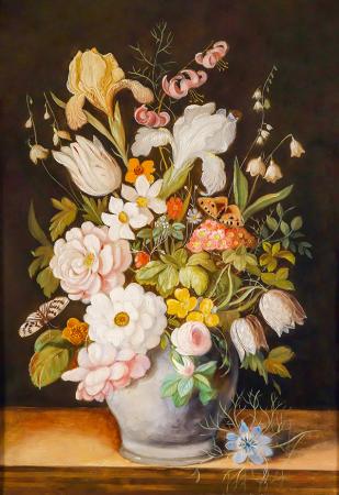 Klasik Çiçek Tablosu 0