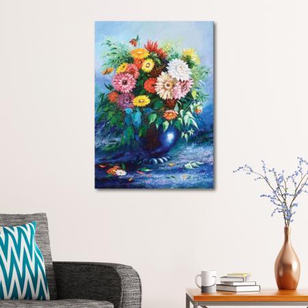 Mavi Vazoda Çiçekler resim2