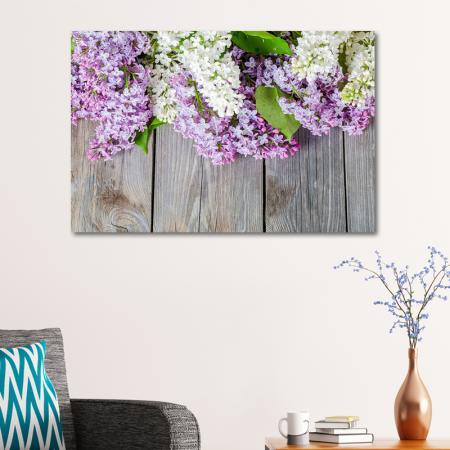 Mor ve Beyaz Sümbüller resim2
