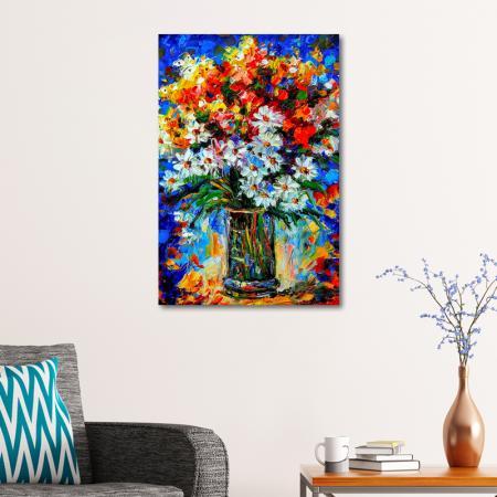 Papatyalar ve Renkli Bahar Çiçekleri resim2