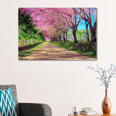 Pembe Ağaçlı Yol resim2